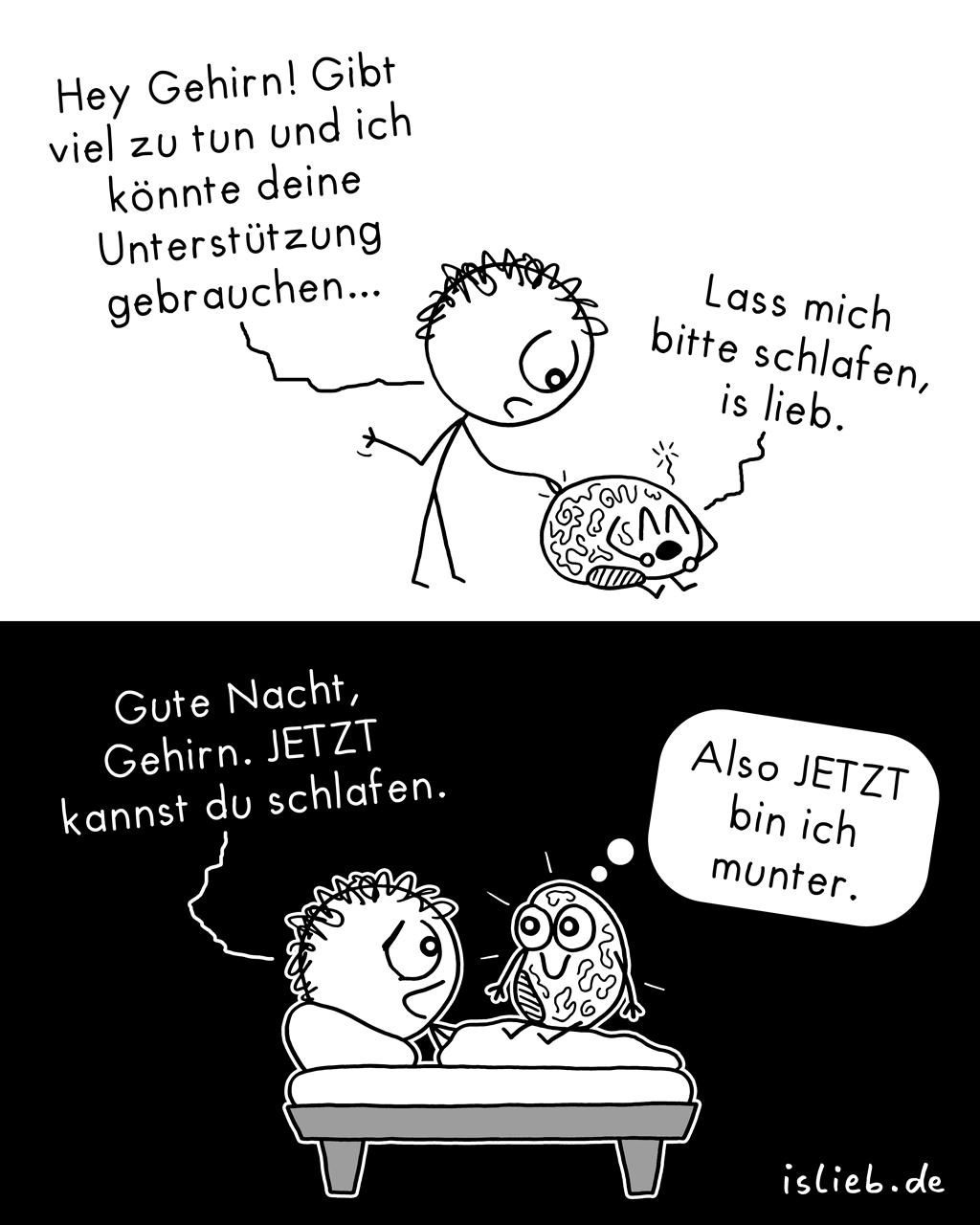 Unterstützung | Gehirn-Comic | is lieb?