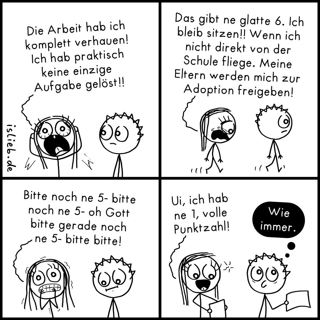 Arbeit verhauen | Schul-Comic | is lieb?