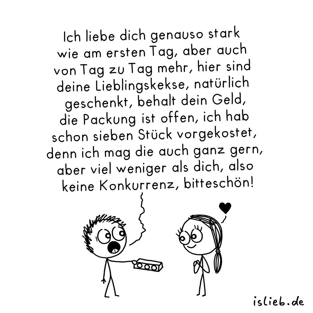 Geschenkt | Strichmännchen-Cartoon | is lieb?