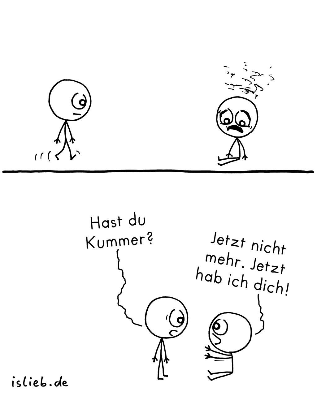 Kummer | Strichmännchen-Comic | is lieb?