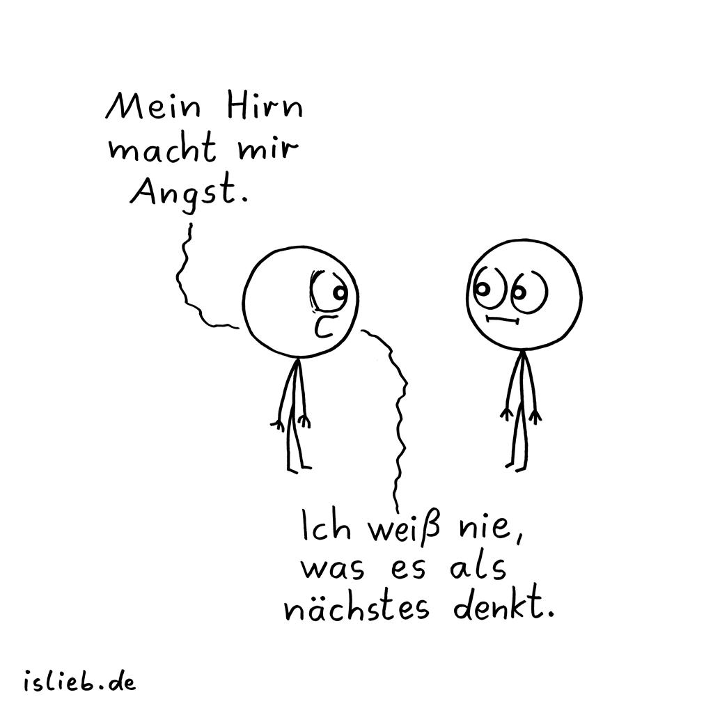 Mein Hirn... | Gehirn-Cartoon | is lieb?