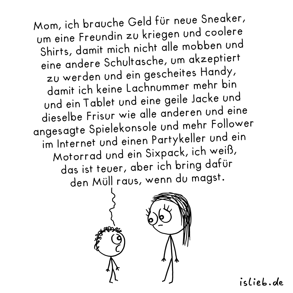 Neue Sneaker | Konsum-Cartoon | is lieb?