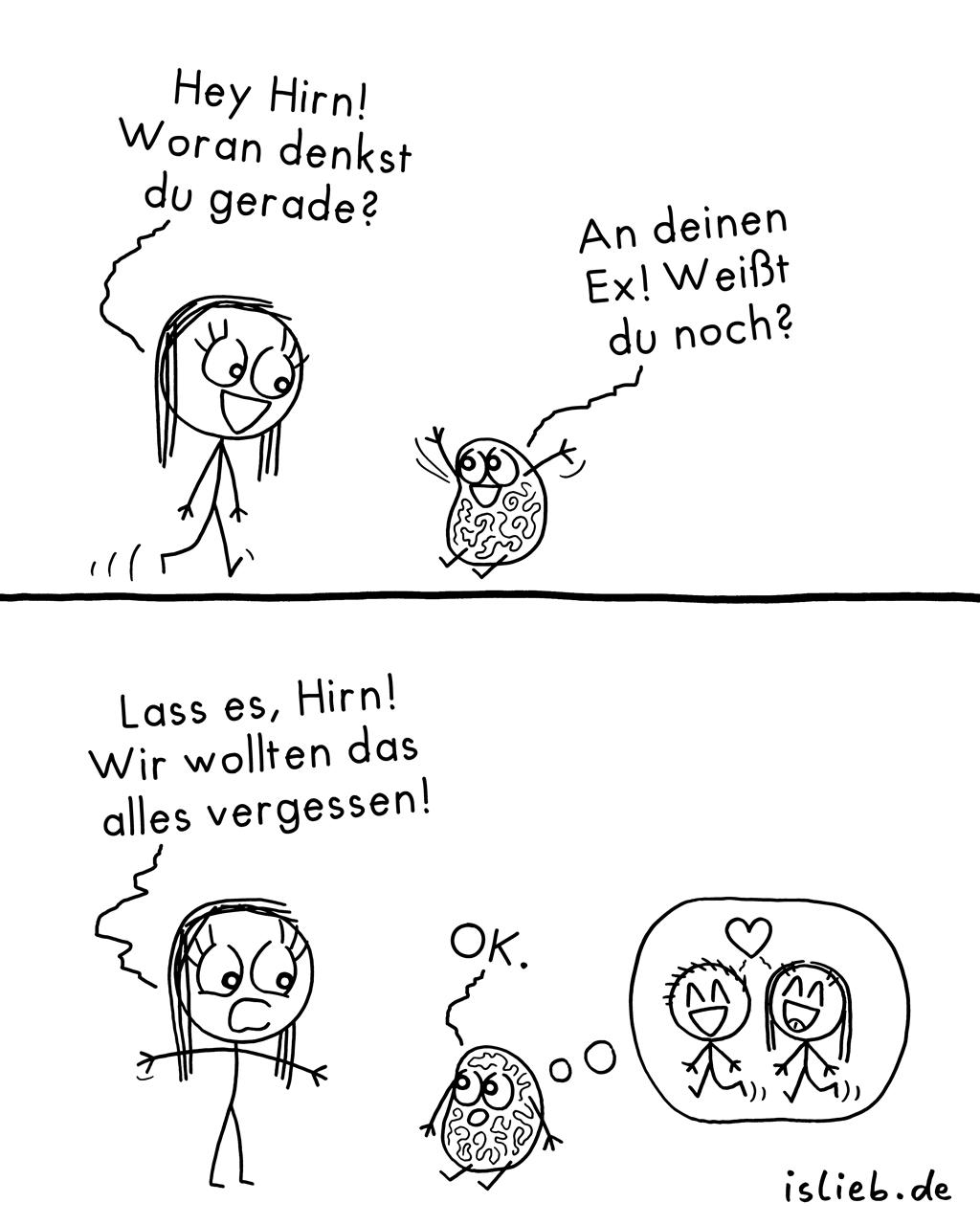 Vergessen | Erinnerungs-Comic | is lieb?