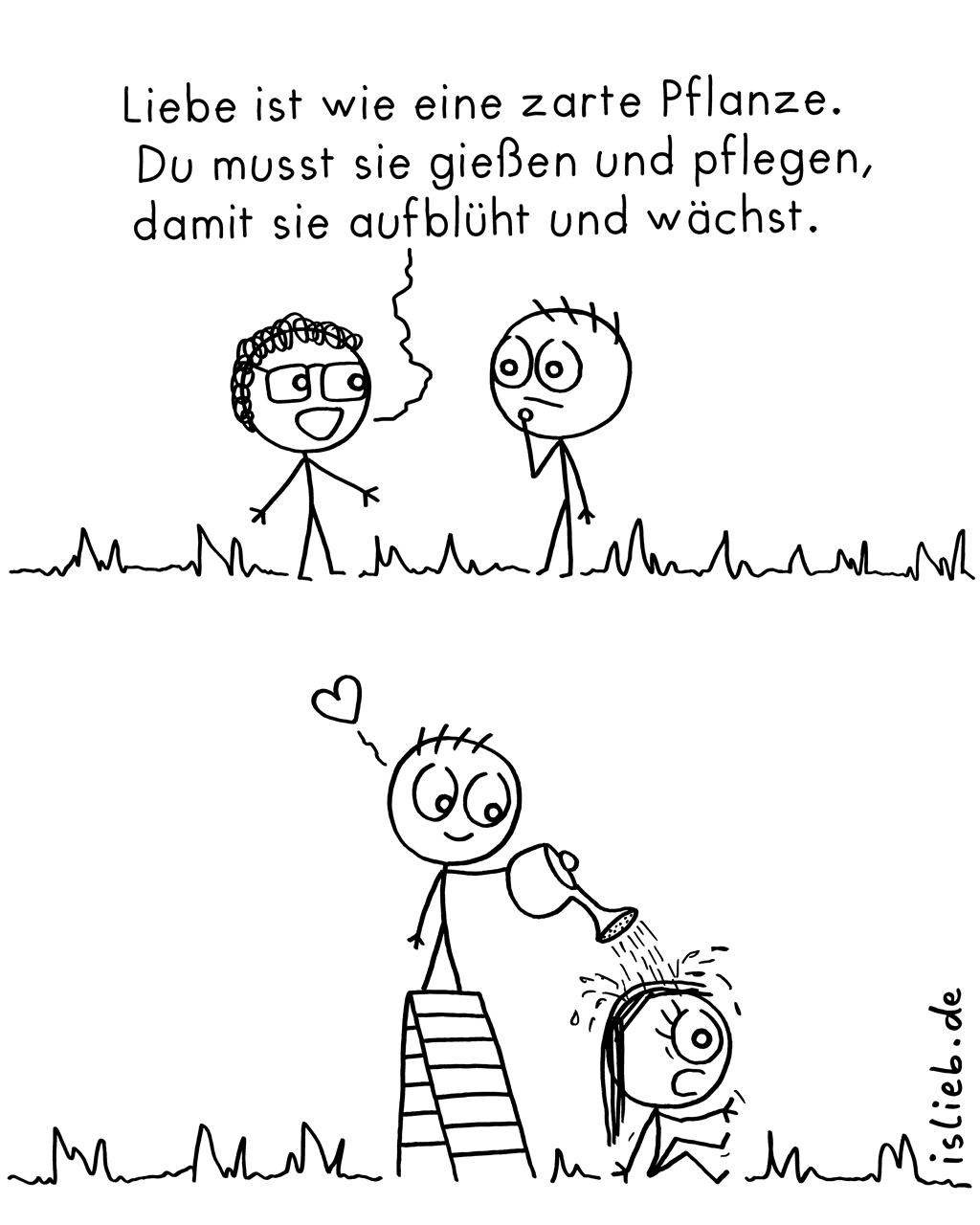 Zarte Pflanze | Liebes-Comic | is lieb?