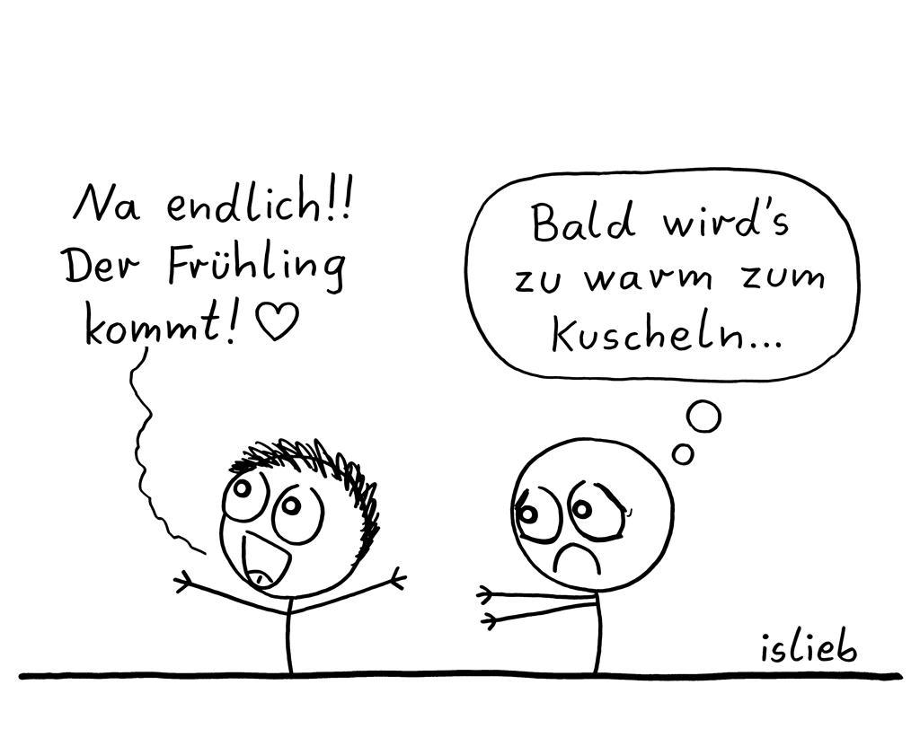 Großes Problem | Frühlings-Cartoon | is lieb?