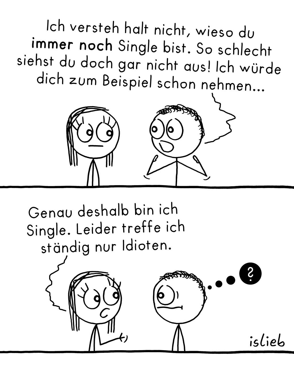 Immer noch Single? | Strichmännchen-Comic | is lieb?