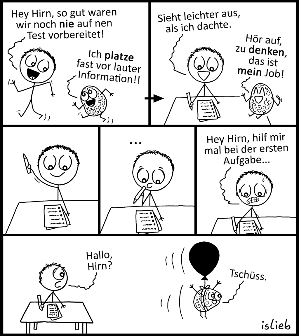 Vorbereitet | Prüfungs-Comic | is lieb?