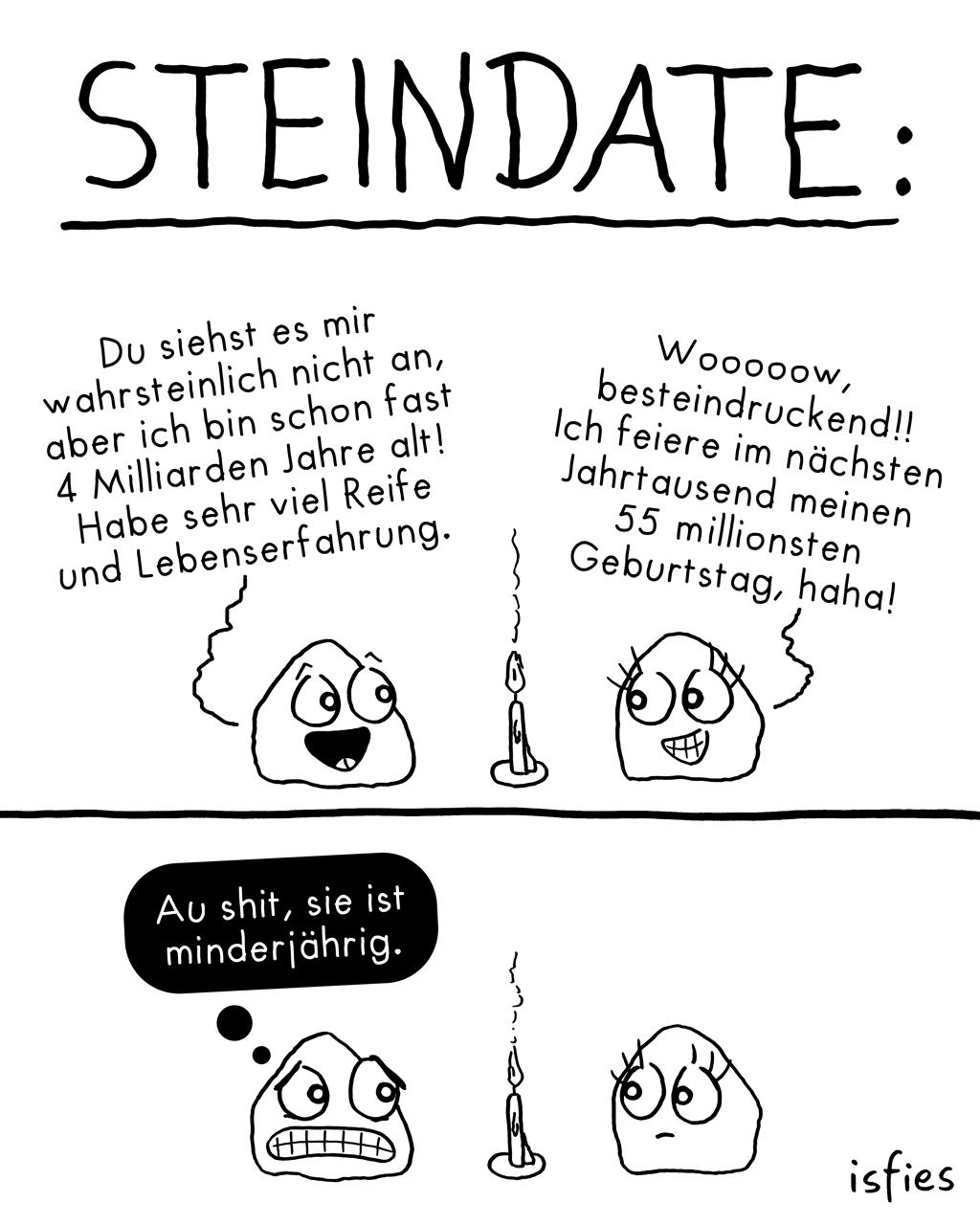 Steindate | Is fies!