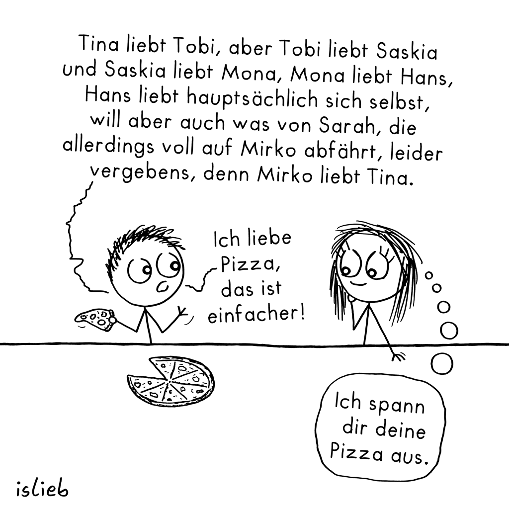 Einfacher | Liebes-Cartoon | is lieb?