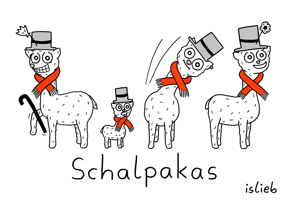 Schalpakas | Alpaka-Cartoon | is lieb?