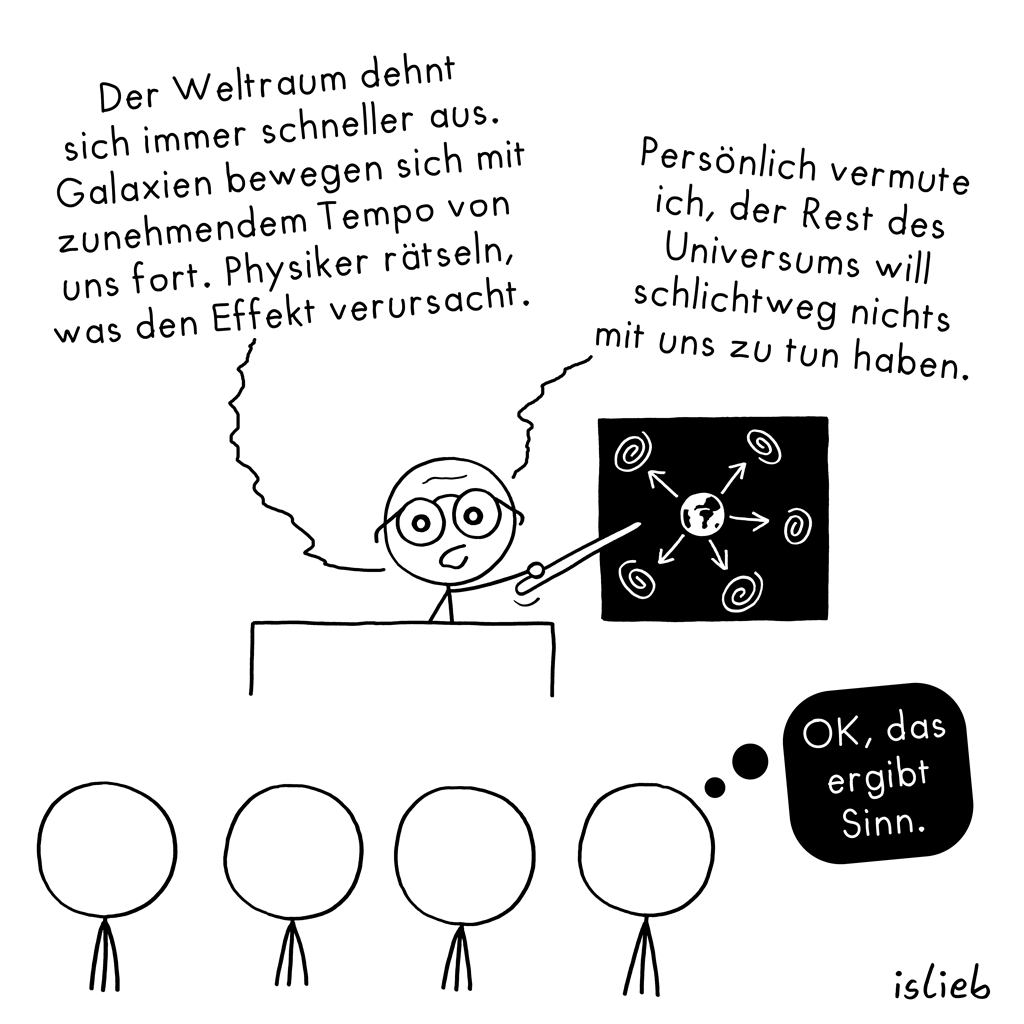 Vermutung | Physik-Cartoon | is lieb?