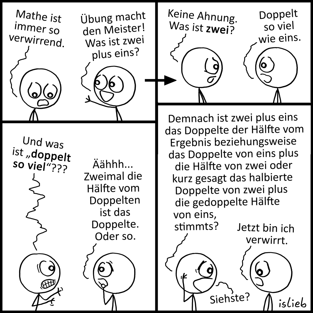 Verwirrend | Mathe-Comic | is lieb?
