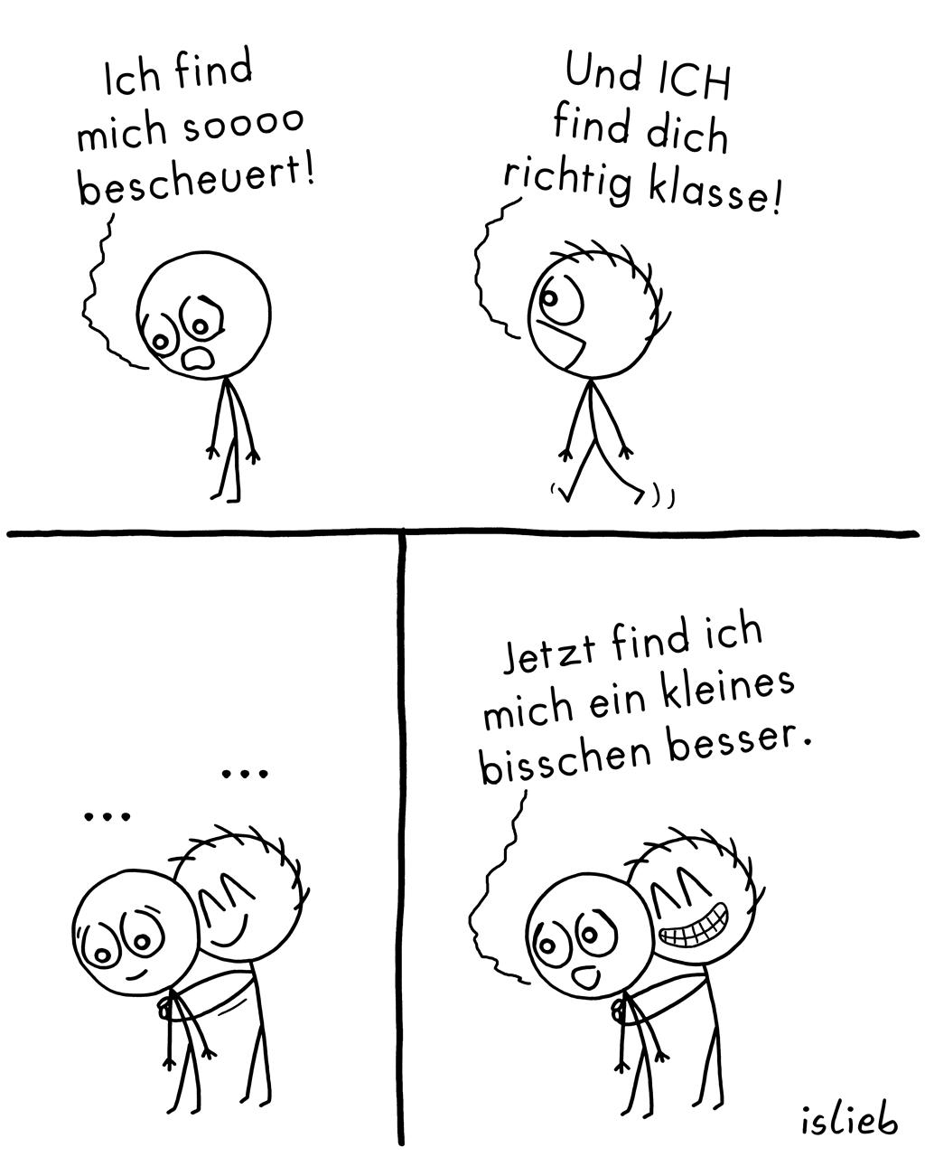 Besser | Strichmännchen-Comic | is lieb?