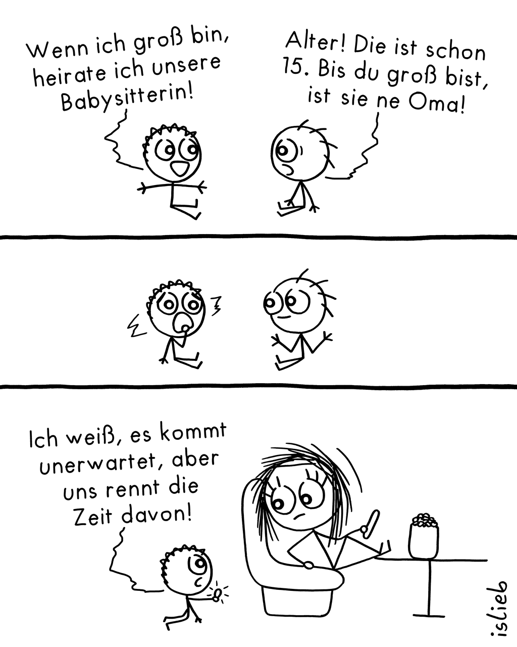 Heiratspläne | Babysitter-Comic | is lieb?