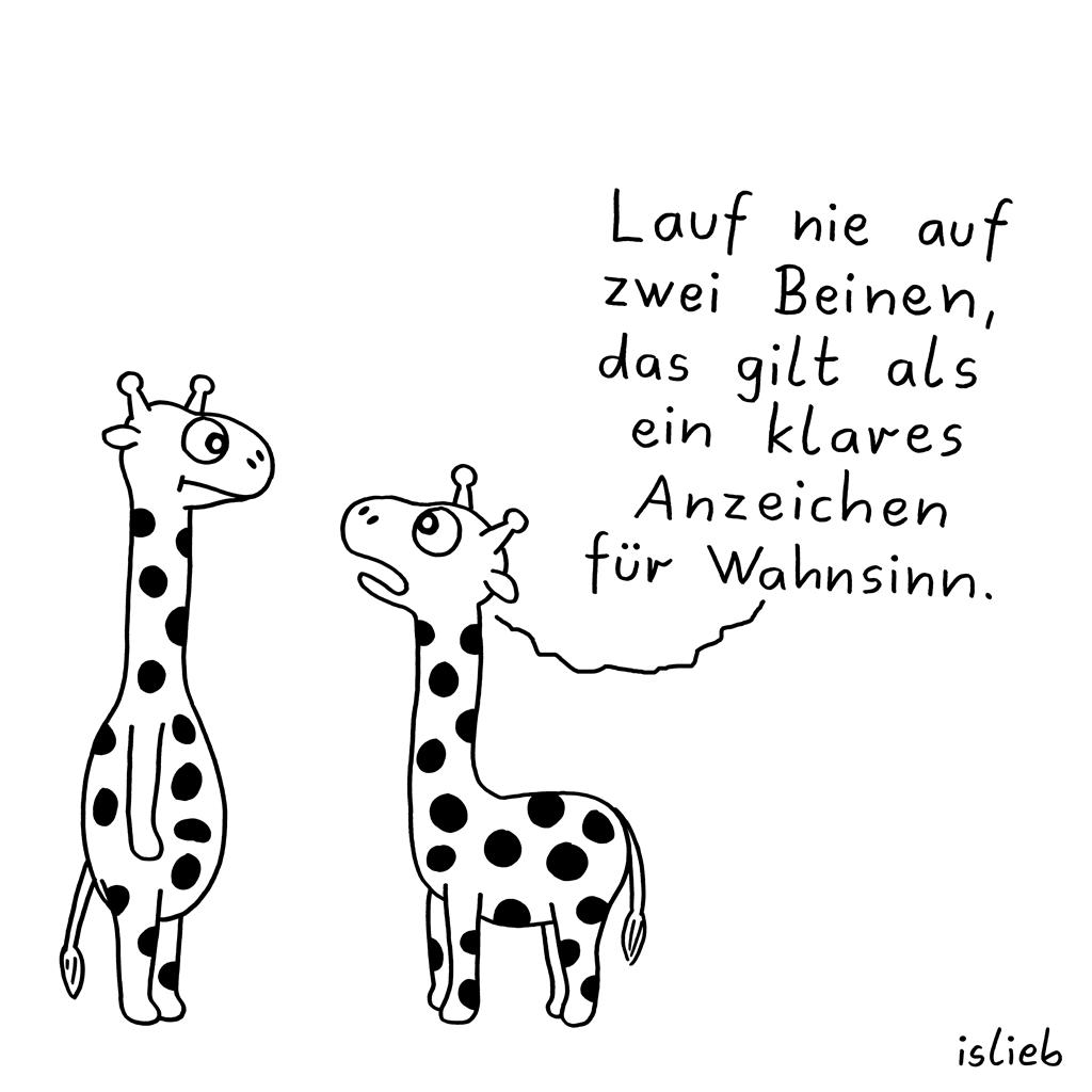 Ratschlag | Giraffen-Cartoon | islieb