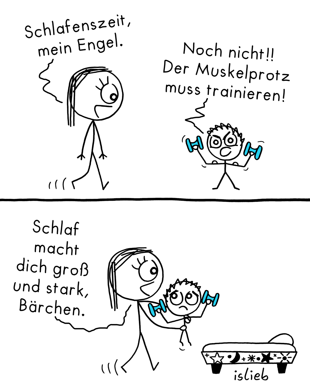 Training | Strichmännchen-Comic | islieb