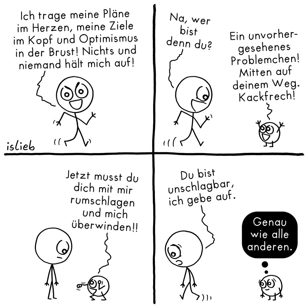 Unschlagbar | Strichmännchen-Comic | is lieb?