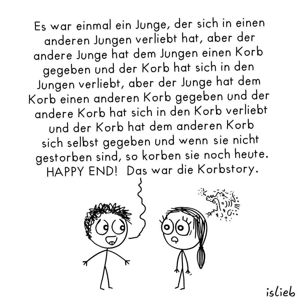 Die Korbstory | Märchen-Cartoon | is lieb?