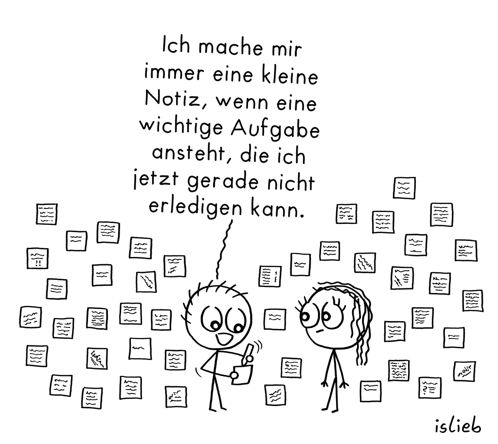 Kleine Notizen | Organisations-Cartoon | islieb