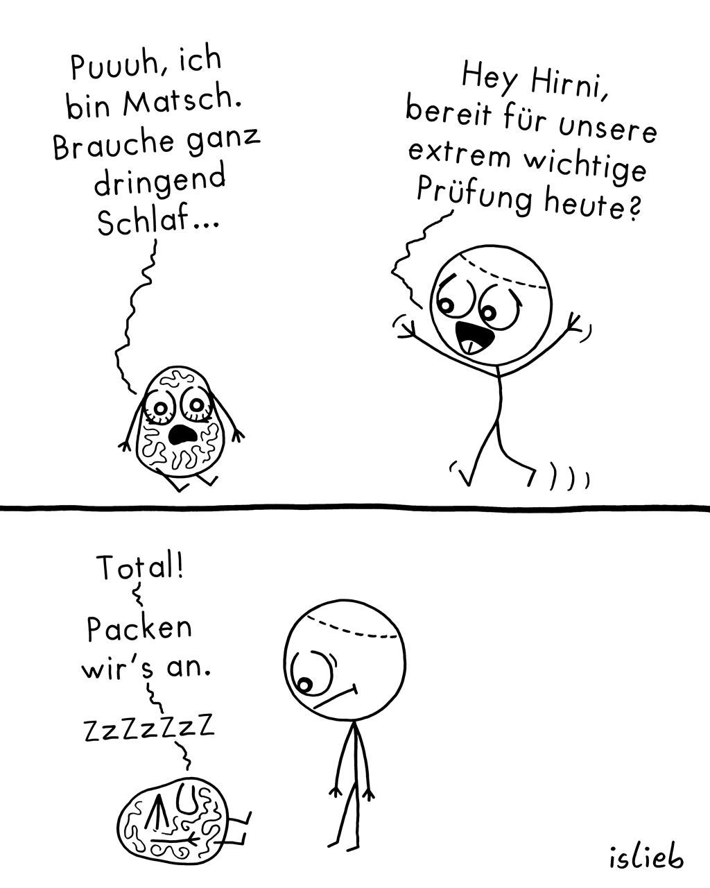 Matsch | Schlafentzug-Comic | islieb
