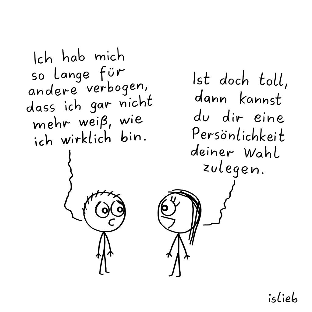 Verbogen | Agepasster Cartoon | islieb