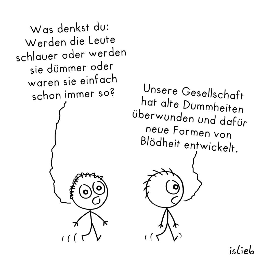 Was denkst du | Philosophie-Cartoon | islieb
