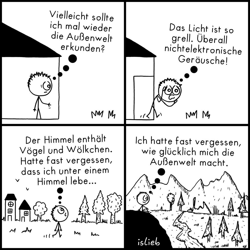 Außenwelt | Strichmännchen-Comic | islieb