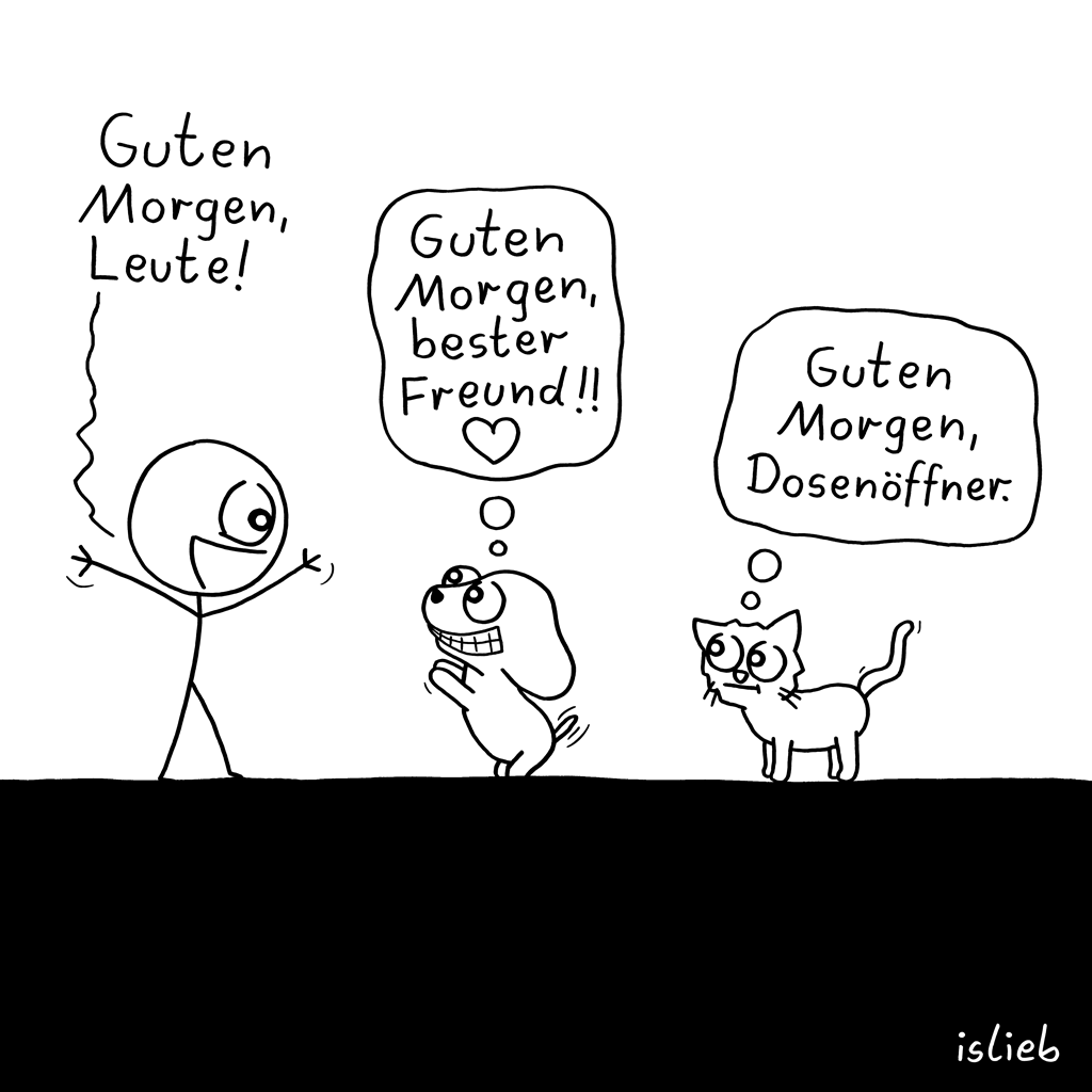Guten Morgen, Leute! | Haustier-Cartoon | islieb