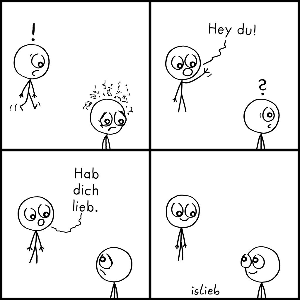 Hey du! | Strichmännchen-Comic | islieb