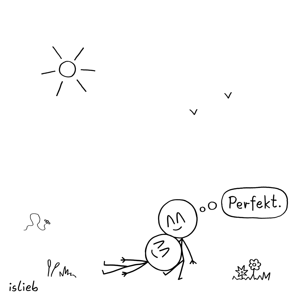 Perfekter Juli | Pärchen-Cartoon | islieb