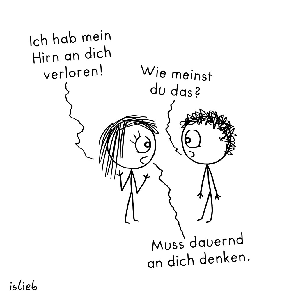 Verloren | Hirn-Cartoon | islieb